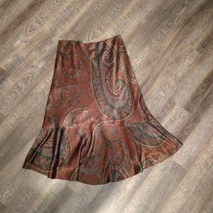 RALPH LAUREN  Satiny Midi Skirt